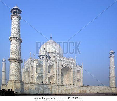 Taj Mahal  white Marble mausoleum during sunset.  Agra, India. poster