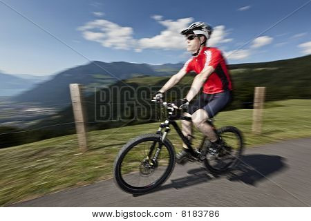 Mountine Biker With View