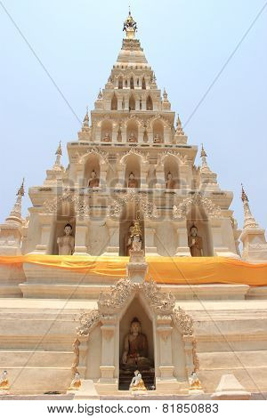 Wat Chedi Liam or Wat Ku Kham one of the ancient Thai temples of Wiang Kum Kam in Chiangmai Thailand poster
