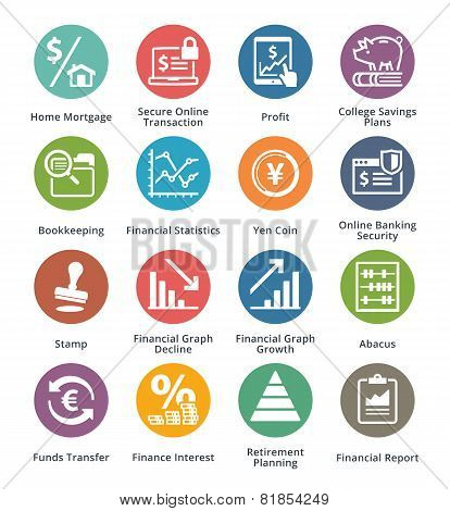 Personal & Business Finance Icons Set 3 - Dot Series