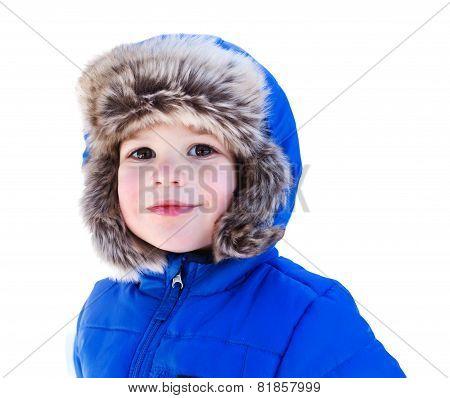 Child In Snow Hat, Winter