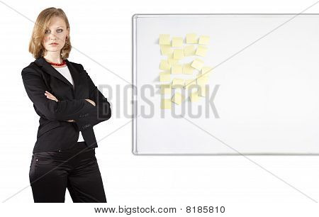 Businesswoman Near Whiteboard