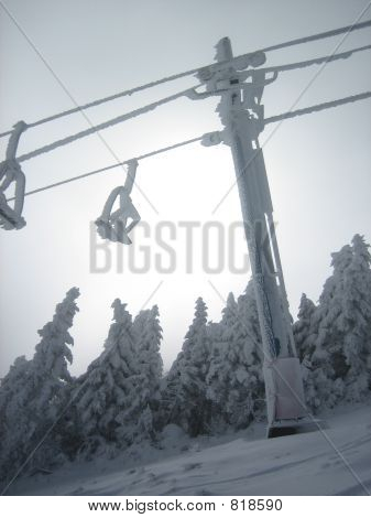 Snowcovered Chairlift