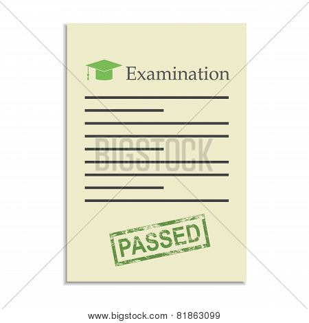 Examination Paper With Passed Stamp