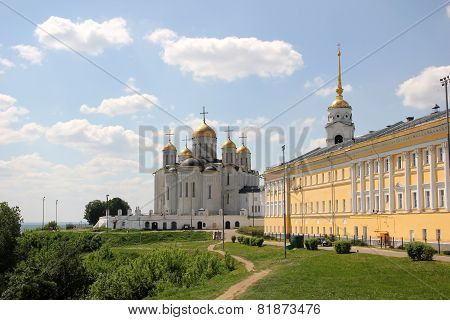 Dormition cathedral and chamber in Vladimir