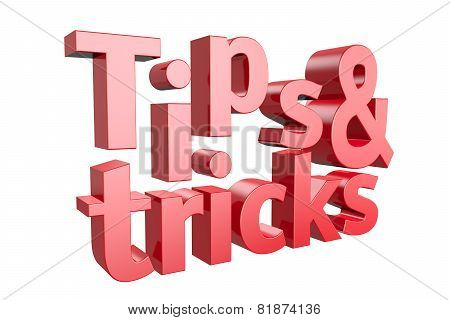 Tips and tricks icon on a white background. 3D illustration poster