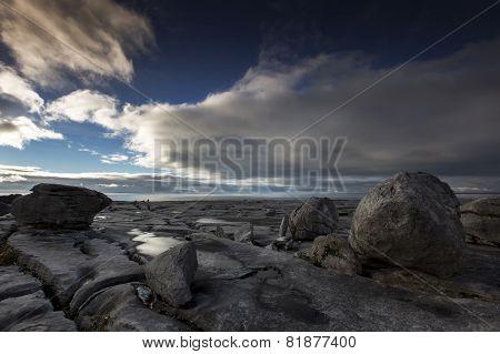 the burren landscape clare ireland
