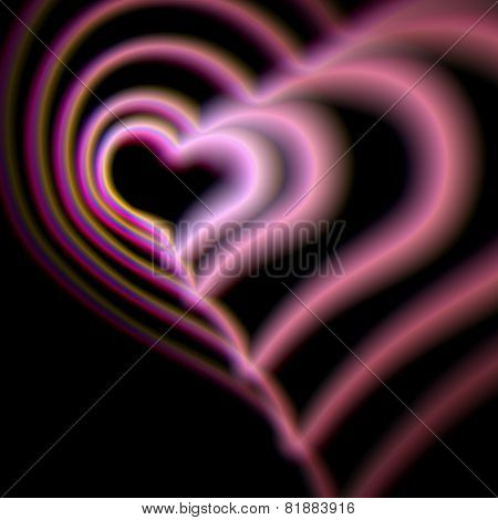 Heart card with colorful aberrations