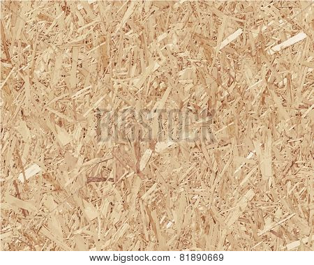 Compressed light brown chipboard. Vector wood