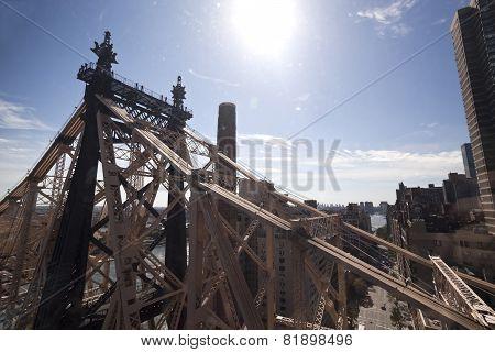 New York City, Queensboro Bridge Over And East River