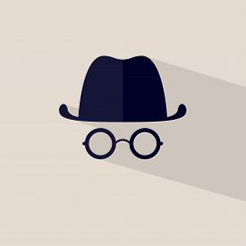 Icon Hat And Glasses Vector File Layered For Easy Manipulation And Custom Coloring.