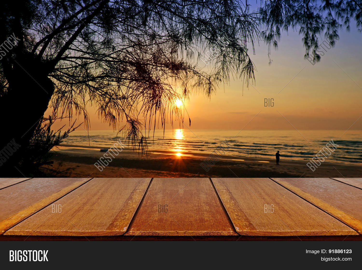 Outdoor Picnic Background Wooden Image Amp Photo Bigstock