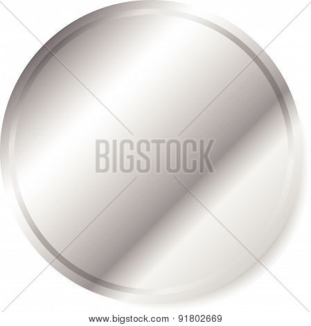 Metal / Metallic Circle. Eps 10 Vector Graphics.