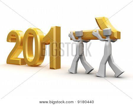 Teamwork Celebrating New Year 2011