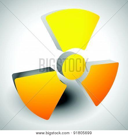 Simple Radiation, Radioactivity Sign. Eps 10 Vector Illustration.