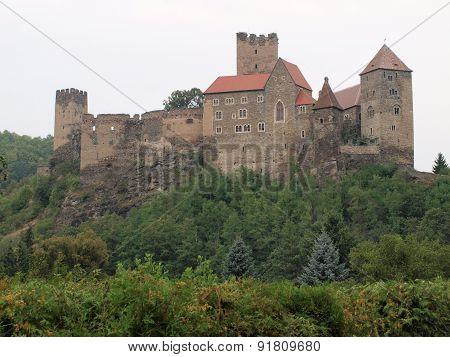 view preserved Medieval castle in Hardegg Niederösterreich