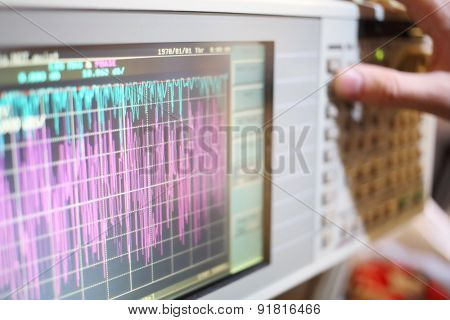 Oscilloscope is a device for the study of the electrical signal
