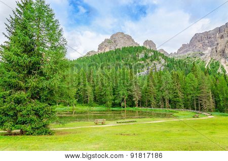Beautiful mountain landscape, South Tyrol, Italy