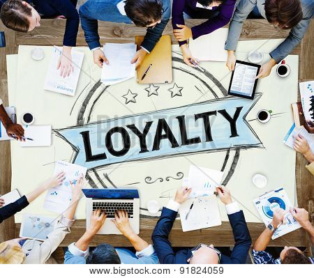 Loyalty Values Honesty Integrity Honest Concept poster