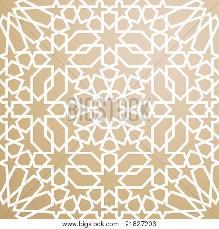 Background with pattern in islamic style
