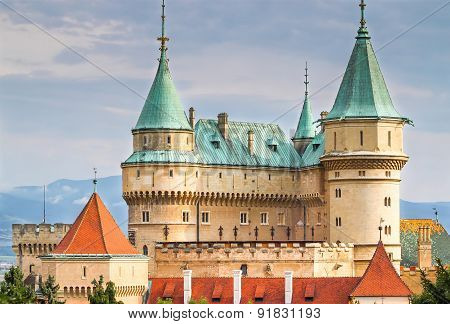 The beautiful and famous Castle Bojnice in Slovakia