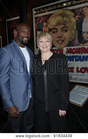 LOS ANGELES - MAY 27:  Jerome Ro Brooks, Alison Arngrim at the Missing Marilyn Monroe Images Unveiled at the Hollywood Museum on May 27, 2015 in Los Angeles, CA