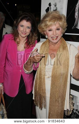 LOS ANGELES - MAY 27:  Morgan Brittany, Ruta Lee at the Missing Marilyn Monroe Images Unveiled at the Hollywood Museum  on May 27, 2015 in Los Angeles, CA
