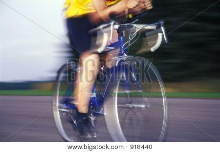 Racer Speeding Past With Blur