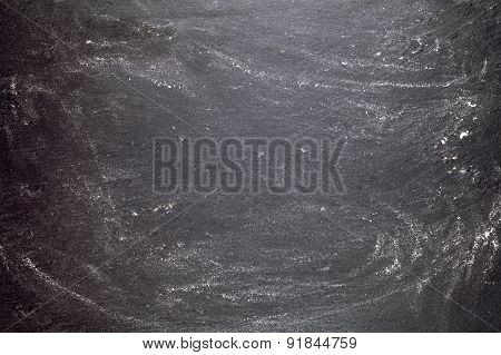 black graphite background with flour