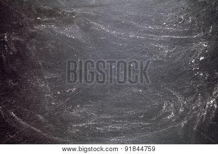 black graphite background with flour
