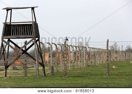 Auschwitz II Birkenau. Poland. The biggest german concentration camp in Europe and now the State Mus