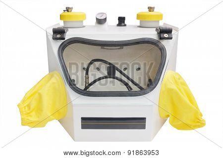 Sandblasting dental apparatus isolated under the white background