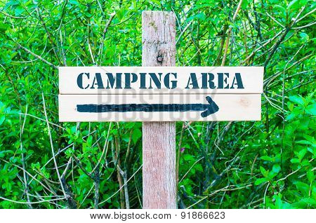 Camping Area Directional Sign