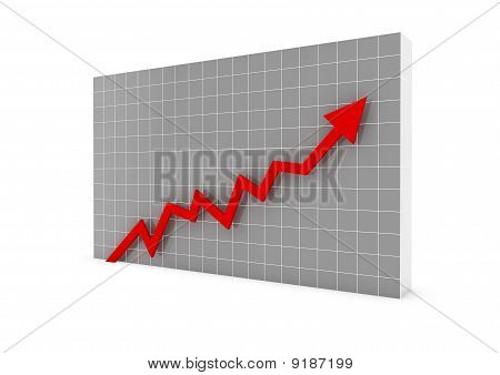business graph red high