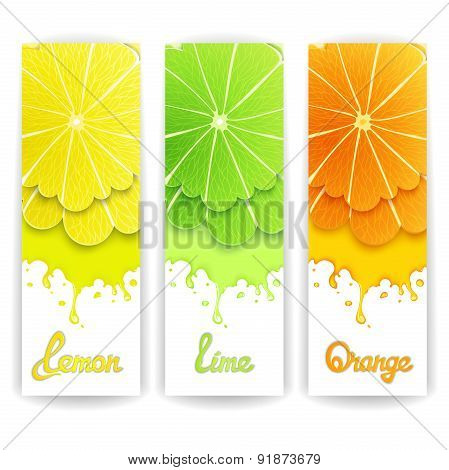 Citrus juice design