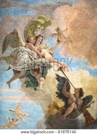 Detail Of The Fresco