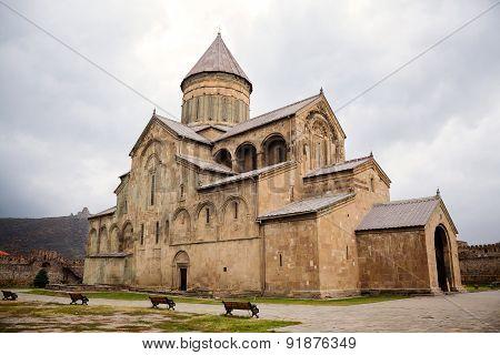 Svetitskhoveli Cathedral In Mtskheta, Georgia