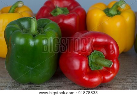 Red and Green Sweet bell peppers