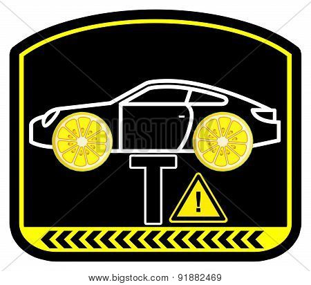 Warning Lemon Car