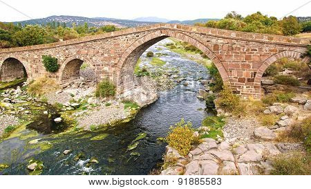 The ancient Ottoman Bridge of Assos.