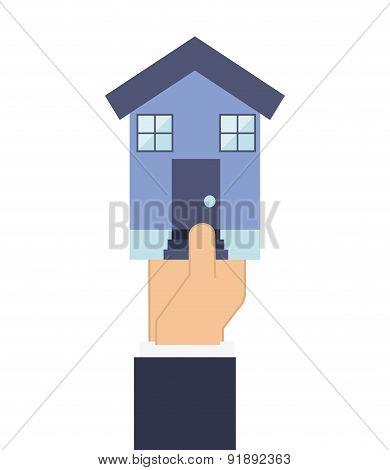 Building design over white background vector illustration