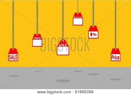 Vector Sale Discount Business Cheap Percentage Manify Concept