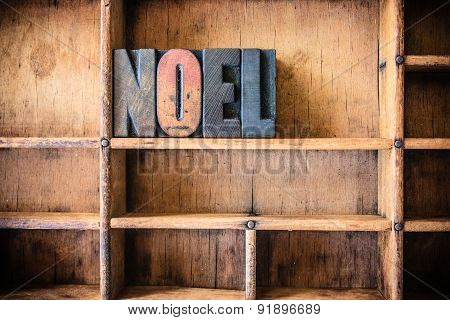 Noel Concept Wooden Letterpress Theme