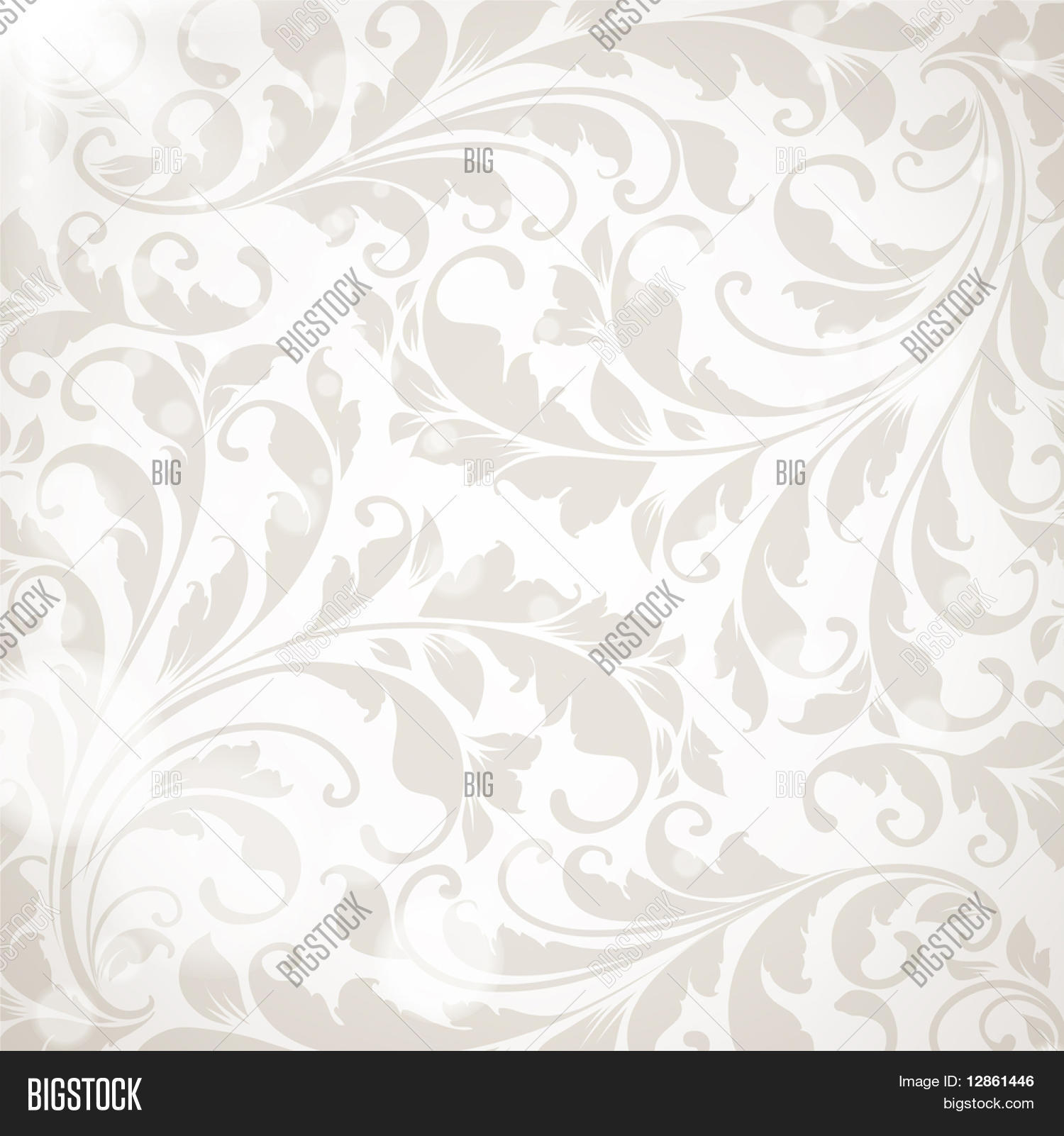 Wallpaper Floral Vector Photo Free Trial Bigstock