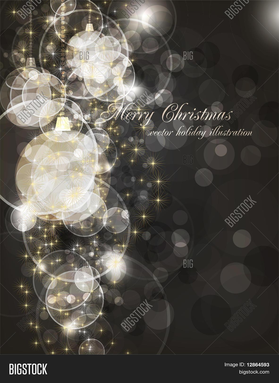 Christmas Invitation Background Gold.Elegant Christmas Vector Photo Free Trial Bigstock
