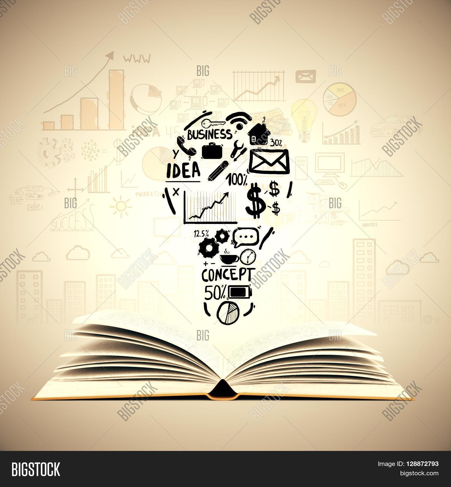 30 Creative Open Concept: Idea Concept Open Book Lightbulb Image & Photo