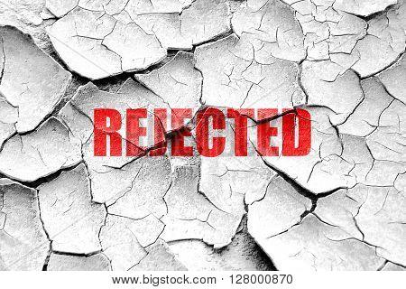 Grunge cracked rejected sign background