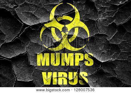 Grunge cracked Mumps virus concept background