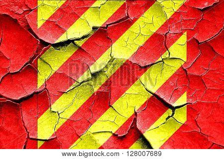 Grunge cracked Yankee maritime signal flag
