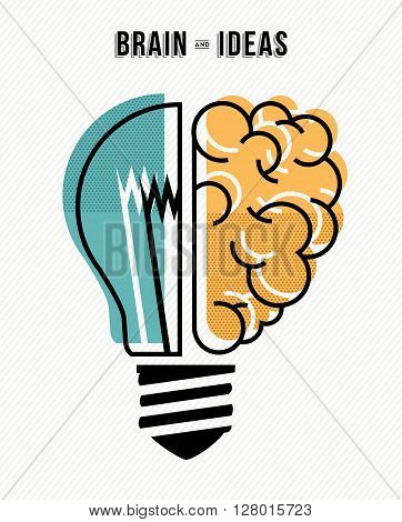 Brain And Ideas Business Concept Illustration